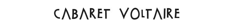 Cabaret Voltaire Font Preview