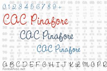 CAC Pinafore Font