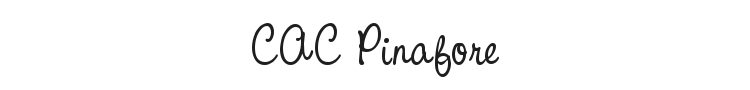 CAC Pinafore Font Preview