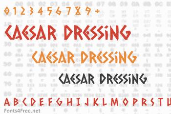 Caesar Dressing Font
