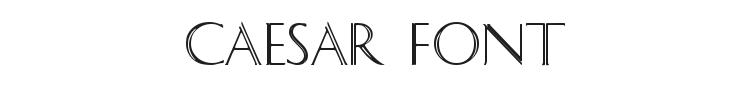 Caesar Font Preview