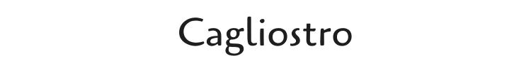 Cagliostro Font Preview