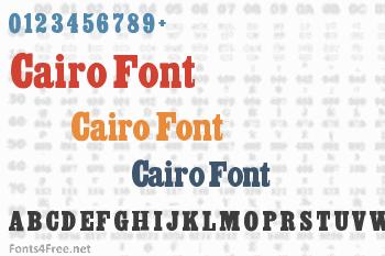 Cairo Font