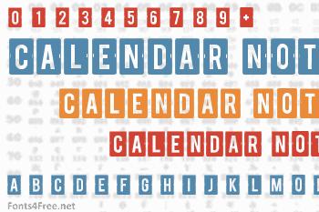 Calendar Note Font
