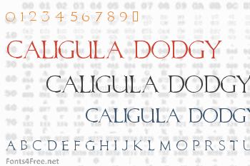 Caligula Dodgy Font