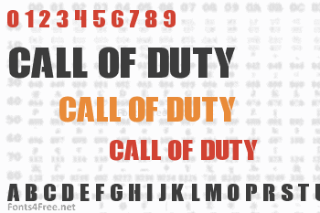 Call of Duty Font