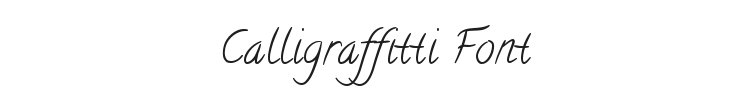 Calligraffitti Font Preview
