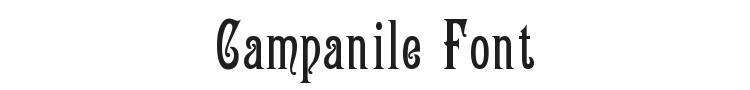 Campanile Font Preview