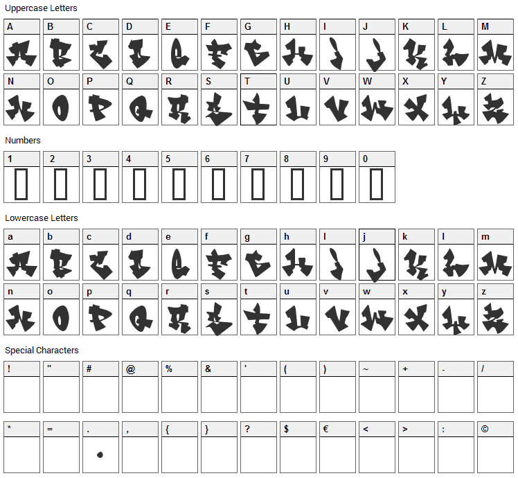 Cancontrol Font Character Map