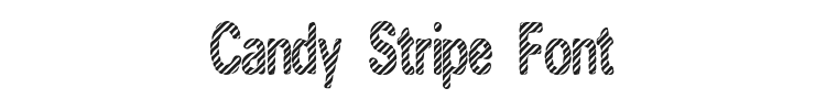 Candy Stripe Font Preview