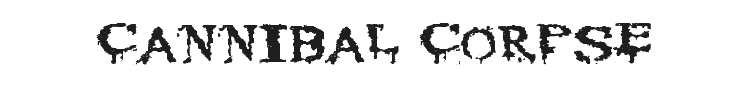 Cannibal Corpse Font Preview