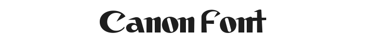 Canon Font