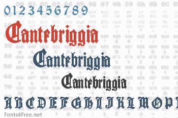 Cantebriggia Font