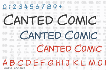 Canted Comic Font