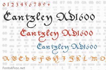 Cantzley AD1600 Font
