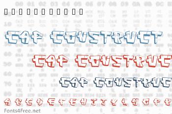 Cap Construct Font