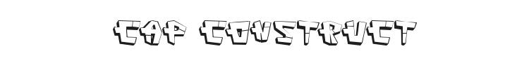 Cap Construct Font Preview