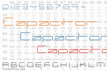 Capacitor Font