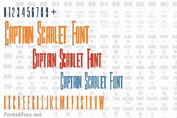 Captain Scarlet Font