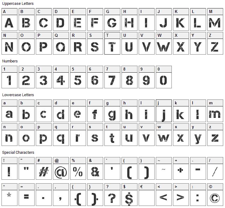 Capture Smallz Font Character Map