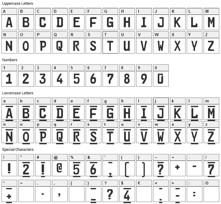 Car-Go 2 Font Character Map