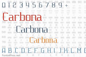 Carbona Font