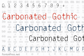Carbonated Gothic Font