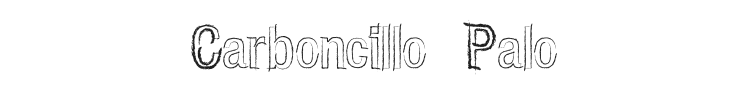 Carboncillo Palo Font Preview
