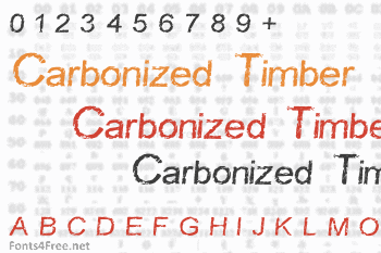 Carbonized Timber Font