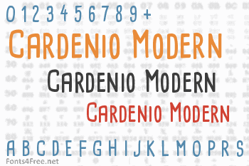 Cardenio Modern Font