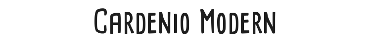 Cardenio Modern Font Preview