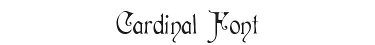 Cardinal Font Preview