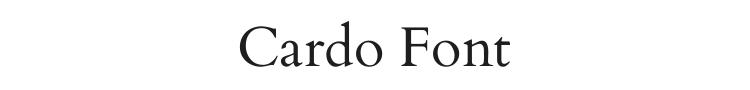 Cardo Font Preview
