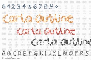 Carla Outline Font