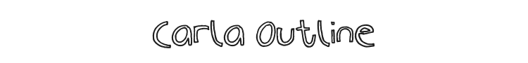 Carla Outline Font Preview
