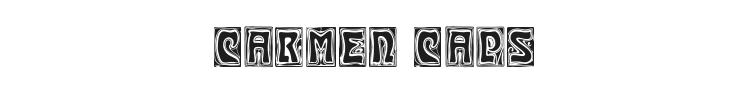 Carmen Caps Font Preview