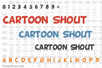 Cartoon Shout Font