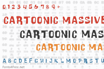 Cartoonic Massive Font
