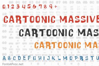 Cartoonic Massive Font