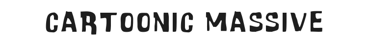 Cartoonic Massive Font Preview