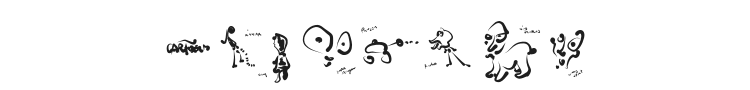 Cartoons Abstract Font