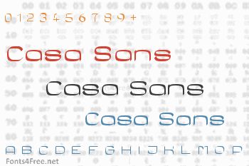 Casa Sans Font