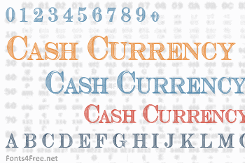 Cash Currency Font