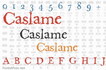 Caslame Font