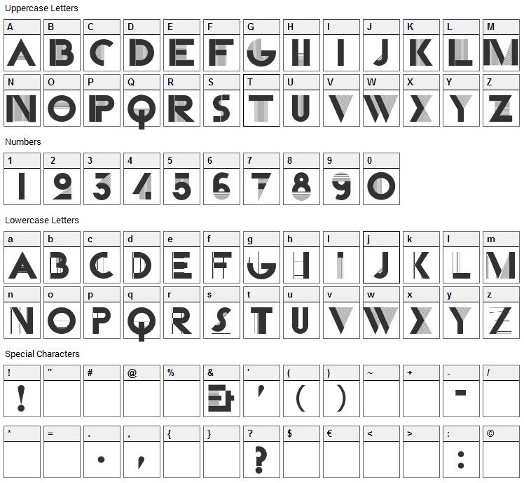 Cassandra Font Character Map