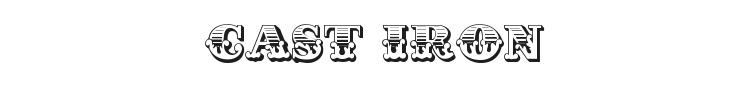 Cast Iron Font Preview