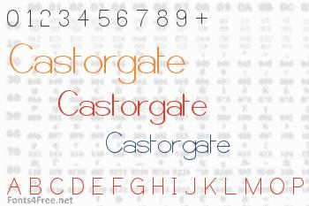 Castorgate Font