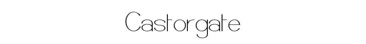 Castorgate Font Preview