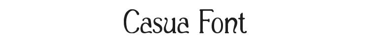 Casua Font Preview