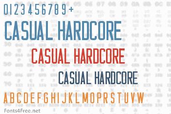 Casual Hardcore Font